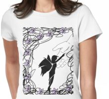 Fairy in the palm of your hands Womens Fitted T-Shirt