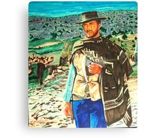 the man with no name -showdown Canvas Print