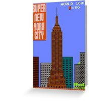 Super New York City Greeting Card