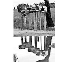 A reflection of the news Photographic Print