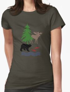 Moose and Bear Womens Fitted T-Shirt