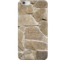 The texture of the walls of rough stones iPhone Case/Skin