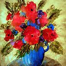 Vase of delight'... by Valerie Anne Kelly