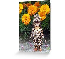 Little Leopard Girl Greeting Card