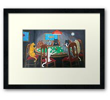 Cats Playing Go Fish Framed Print