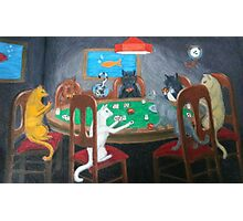 Cats Playing Go Fish Photographic Print