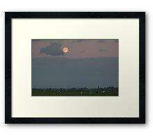 Full moon in September Framed Print