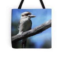 Kookaburra sitting in an old gum tree . . .  Tote Bag