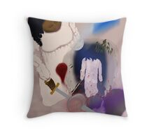 Night Walker  Though she does not Know the Seed of Early Cruelty was Slain Throw Pillow