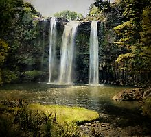Tikipunga Falls, Whangarei, New Zealand. by Lynne Haselden