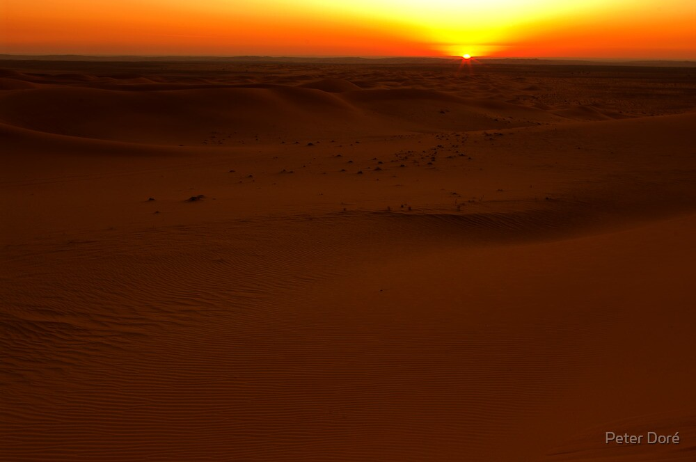 Sunset in the Dahna Dunes by Peter Doré
