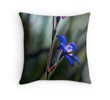 """Enamel Orchid"" Throw Pillow"