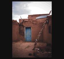Taos Pueblo Ladder by doorfrontphotos