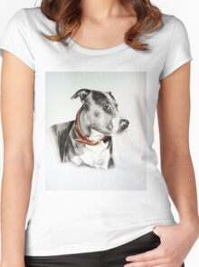 Staffordshire Bull Terrier Women's Fitted Scoop T-Shirt