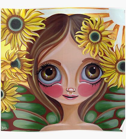 """Sunflower Fairy"" Poster"
