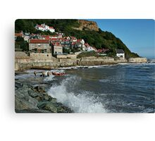 Having a wave of a time at Ruswick Bay Canvas Print
