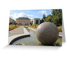 Centre of international wood sculpture Greeting Card