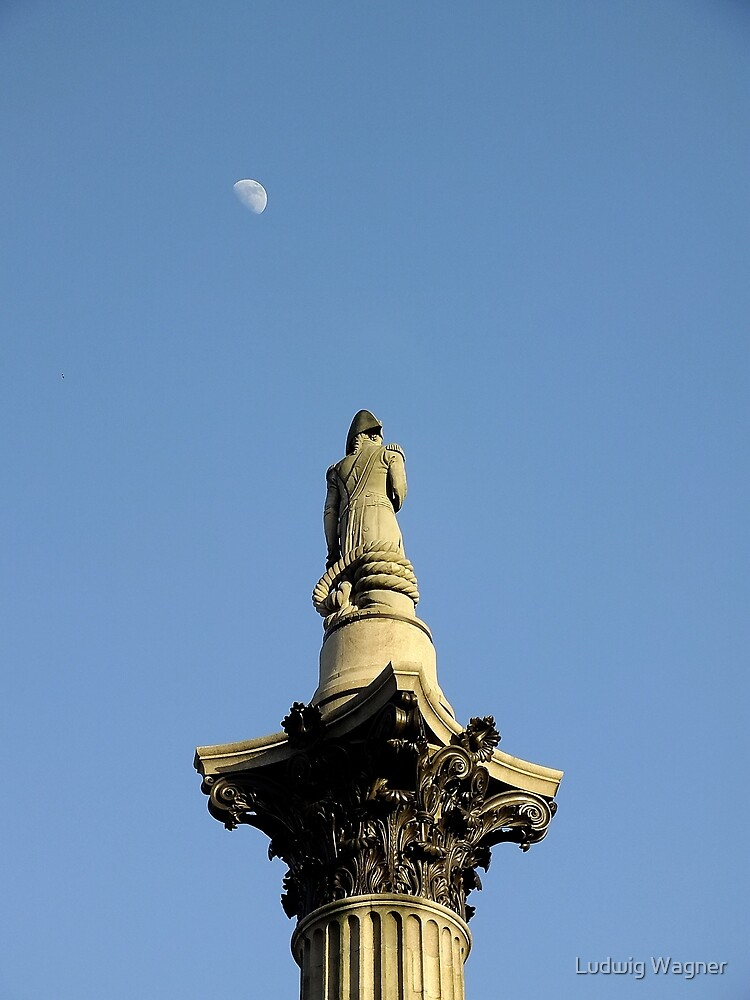 Nelson's Column, Trafalgar Square by Ludwig Wagner
