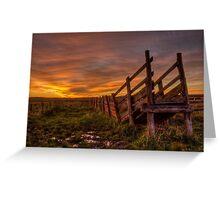 Cattle Ramp Sunset Greeting Card