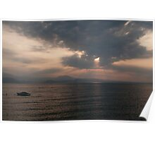 Sunrise over Lago di Garda Poster