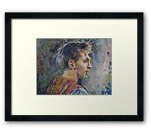 Messi - Portrait 1 Framed Print