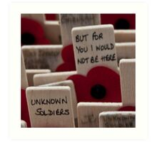 Remembrance Day - Crosses at Westminster Abbey   Art Print