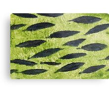 Impression Water Reed Minnows Metal Print