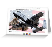 A-10 Thunderbolt II Greeting Card