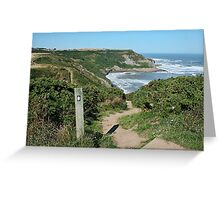 Watch your step at Port Mulgrave Greeting Card