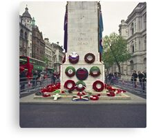 Remembrance Day - Wreaths at the Cenotaph Canvas Print