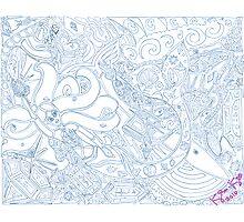 'Secret Treasures of the Fateful Mermaid ~ The Blueprints' Pieces Art™ Photographic Print