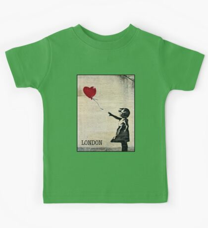Banksy's Girl with a Red Balloon III Kids Tee