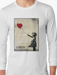Banksy's Girl with a Red Balloon III Long Sleeve T-Shirt