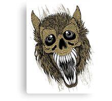 Evil Halloween Werewolf Canvas Print