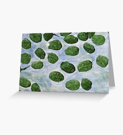 Impression Lilly Pads Greeting Card