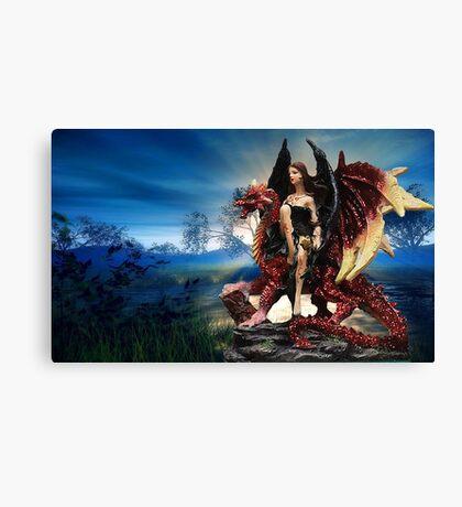 The Dragon Queen Awaits Canvas Print