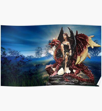 The Dragon Queen Awaits Poster