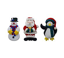Christmas Snowman Santa and Penguin by MarkUK97