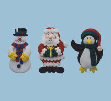 Christmas Snowman Santa and Penguin Kids Clothes