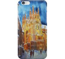 Christmas in Canterbury iPhone Case/Skin