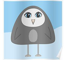 Geometric Cute Cartoon Penguin Poster