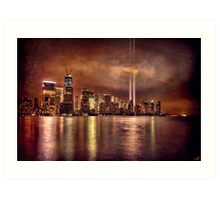 September 11th 2011, Downtown Manhattan Art Print
