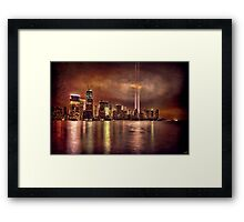 September 11th 2011, Downtown Manhattan Framed Print