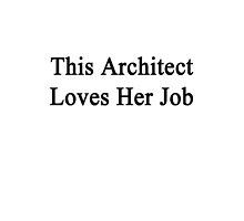 This Architect Loves Her Job  by supernova23