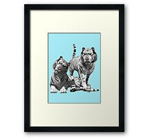 White Tigers .. Tee Shirt Framed Print