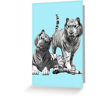White Tigers .. Tee Shirt Greeting Card