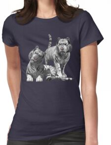 White Tigers .. Tee Shirt Womens Fitted T-Shirt