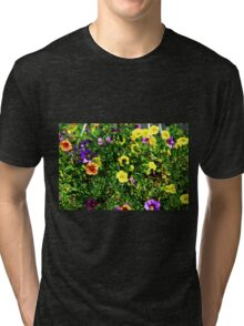 Bee in flower Tri-blend T-Shirt