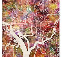 Washington map Photographic Print