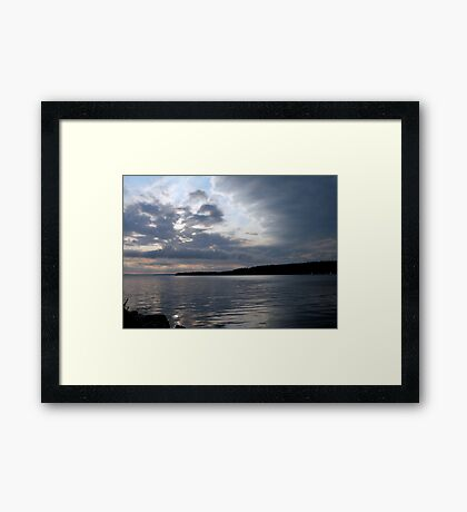 Silver among the Clouds Framed Print